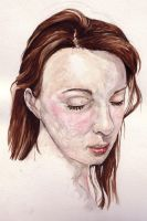 selfportraitwatercolour by Sillyyellowrabbit