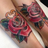 Roses with key and keyhole by WillemXSM