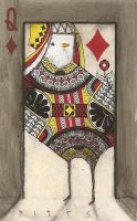 Bird Queen of D in Doorwy ACEO by SethFitts