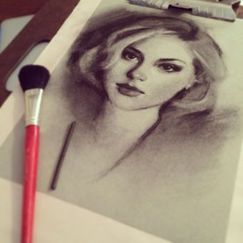 Charcoal Drawing WIP by gabbyd70