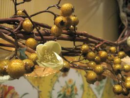 Gold berry decorations by Reyphotos