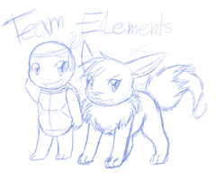 Sketch gift: Team Elements by CrispyCh0colate