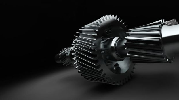 Axle with spur gear by Th3al9ex