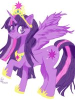 Alicorn Twilight Sparkle by aramintaXkazemaru