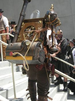 Steampunk backpack by EvolCarling