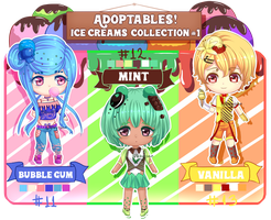 [Auction] Adoptables|Ice Creams 1 [CLOSED] by Biby-san