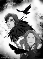 ASOIAF sketchbook: Jon and Ygritte by nastjastark