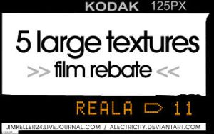 Film Rebate Textures by AlecTricity