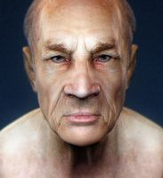 Old man speedsculpt, video and free 5k poly model by ChrRambow