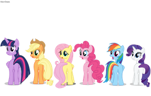 Mane six by Alex-Granx