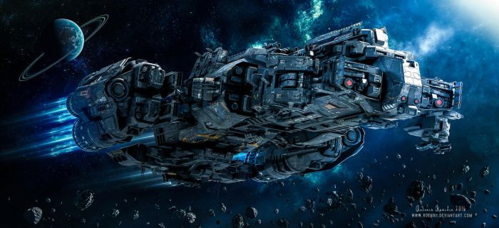 SciFi Support Frigate by rOEN911