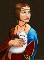 Lady with an Angry Ermine by ashrel