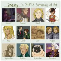 2013 summary of art by simply-irenic