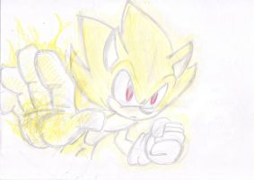 awesome Super Sonic by LeniProduction