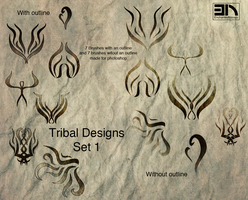 Tribal Designs-set 1 by EnchantedNavajo