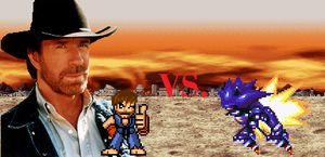 Epic Fights Series: Chuck Norris VS Mecha Sonic by EnteiTheHedgehog