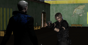 Sure wanna fight with me? Vergil Vs Leon by LingLostHappinesXiao