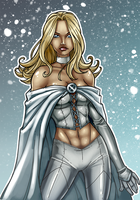 Emma Frost. Coloured. by Scorch-D
