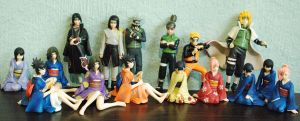 Incomplete Naruto figure set by justinedarkchylde