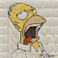 Homer Simpson Mosaic by slidewayze