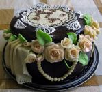 Flower box cake by JSjewelry
