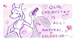 Marker Mewtwo Valentine by The-Blue-Pangolin