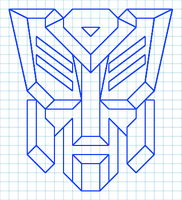 Transformers Autobot Graph Paper Logo by LordofNintendo