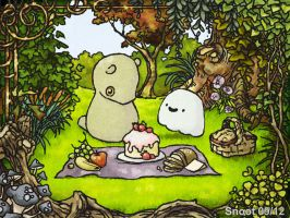 Snoot and Boo's Picnic by snoot