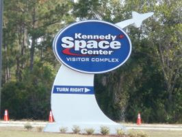 Kennedy Space Center Sign by L1701E