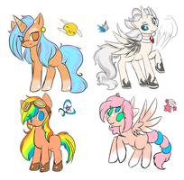 Pony Adoptables.:Set 1:.CLOSED by Terasuchan
