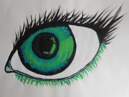 Green eye by asunairam