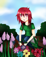 brb planting a tree by flowers1011