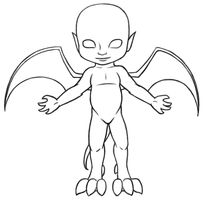 Chibi Gargoyle Base by DragonsLover1
