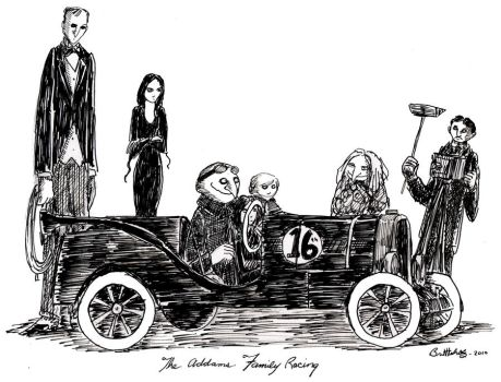 Addams Family Racing by herbertzohl