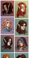 Headshot Commissions Round 2 by CrystalCurtis