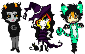 :2013 Halloween Chibis: by Vinabe