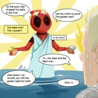 deadpool fairy tales- the Honest Woodcutter by Rcaptain