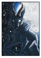 ACEO Card - One With The Moon by ARVEN92