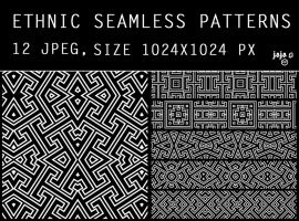 Ethnic seamless pattern by jojo-ojoj