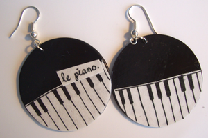 piano earrings.lalaaa by esyfloresy