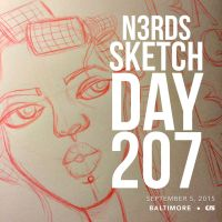 Sketch Day 207 by n3rdswithpapercuts