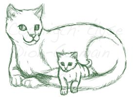 The cat family WIP by 32d