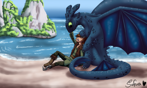 Cuddly dragon by Sofua