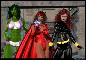 Girls of the Avengers by Poserhobbit