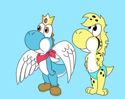 blue yoshi and lukas yoshi by sprucehammer