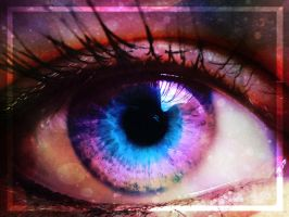 Photomanipulation: my Eye by oOSchokoOo