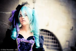 Miku Hatsune- Vocaloid_Sandplay of the Dragon by oShadowButterflyo