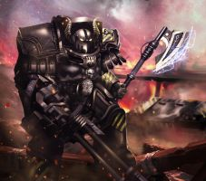 Iron Warrior terminator by SlaaneshG