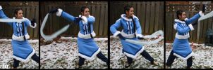 Water bending Katara by Kuroame14