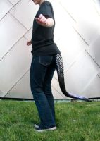 Black and Purple Dragon Tail by DracoLoricatus